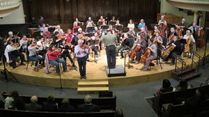 conductor, Moshe and orchestra